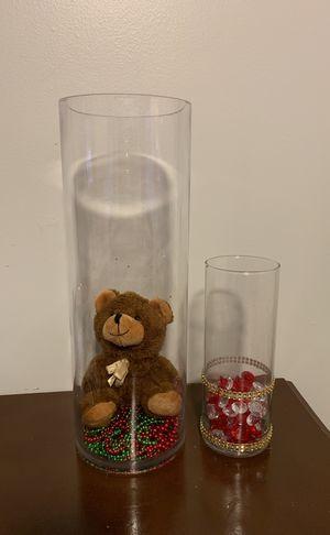 2 jarrones de cristal for Sale in Boston, MA