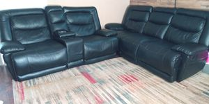 2 Sofas negros Reclinables/2 Black Couche s 🖤 for Sale in Vancouver, WA