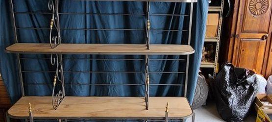 Bakers Rack Storage Metal Wood Shelves for Sale in Hightstown,  NJ
