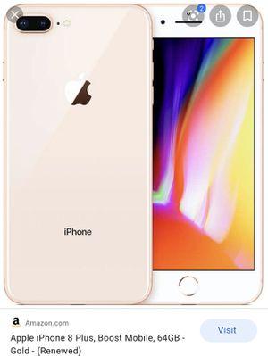 iPhone 8 Plus / Boost Mobile for Sale in Saginaw, MI