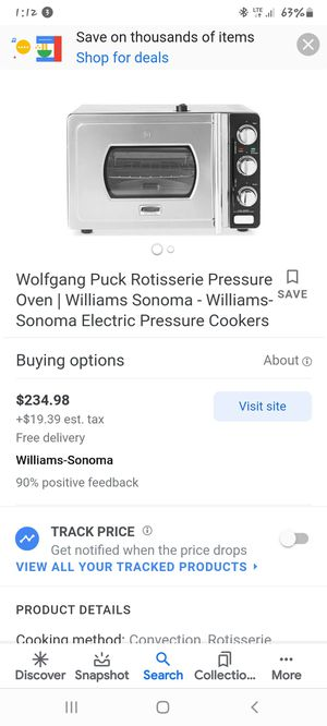 Wolf gang puck pressure oven NEW for Sale in Houston, TX