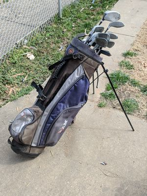 Golf caddy with assorted clubs, taking best offer for Sale in Baltimore, MD