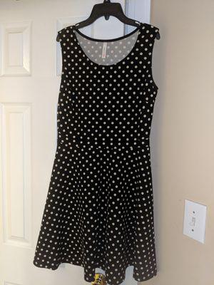 Gilli size 8 dress sleeveless black and white polka dot for Sale in Durham, NC