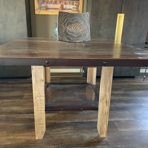 Solid Wood Industrial Style Dining Table for Sale in Imperial Beach, CA
