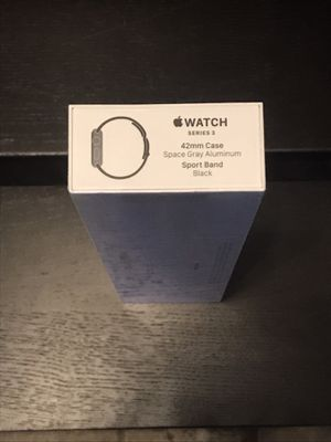 Apple Watch S3 42mm Space Gray black band- BRAND NEW STILL IN PLASTIC-Gift don't need-NO OFFERS for Sale in Lakewood, CA