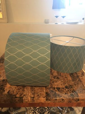 Lamp Shades (2) Teal Green for Sale in North Chesterfield, VA