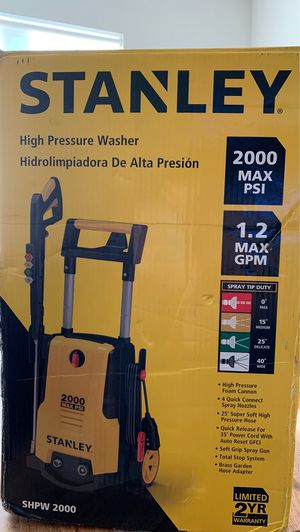 Pressure washer Stanley 2000 max psi new for Sale in North Bergen, NJ