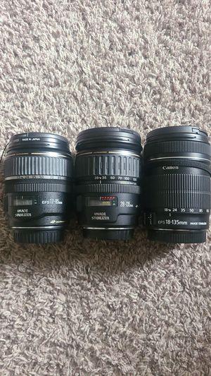 Canon Lenses w image stabilizer for Sale in San Antonio, TX