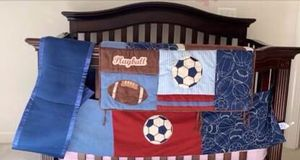 Crib bedding set sports theme for Sale in Centreville, VA