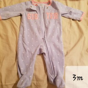 0 to 3 month baby girl pajama for Sale in Virginia Beach, VA