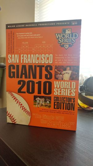 SF Giants World Series 2010 Collector's Edition for Sale in San Francisco, CA