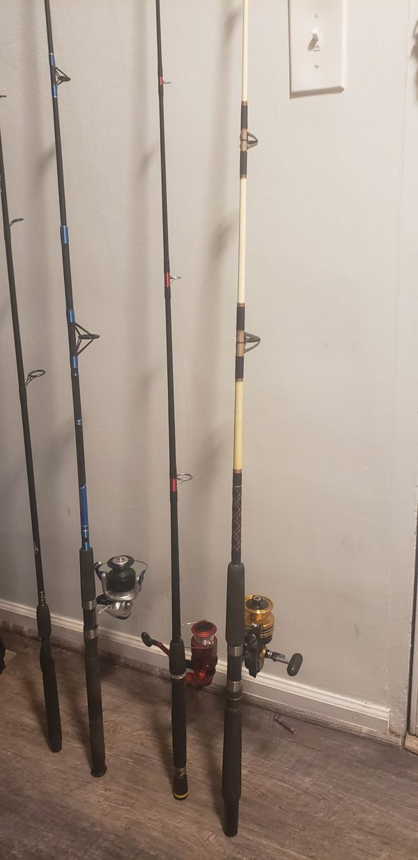fishing rods in good condition
