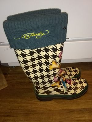 Ed Hardy rain boots for Sale in Las Vegas, NV