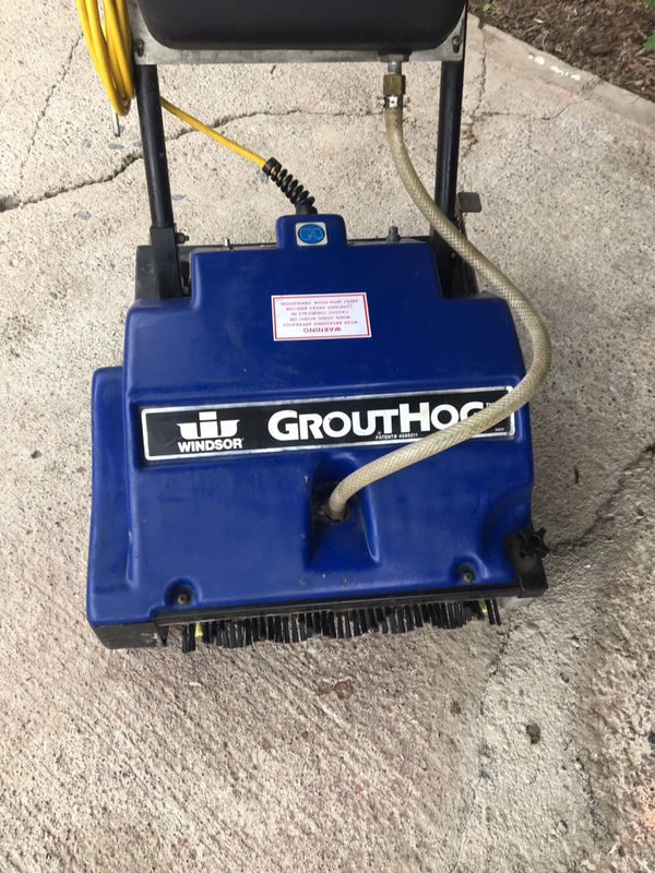 Grouthog Windsor floor cleaner scrubber tile hardwood cement