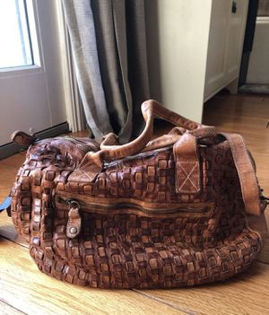 Lagellotti distressed Italy Woven leather satchel bag for Sale in Santa Ana, CA