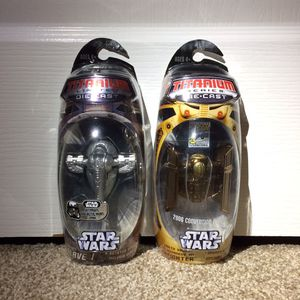 Star Wars Action Figures Vintage Titanium Slave 1 Tie Fighter Vehicles for Sale in Concord, CA