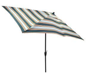 10 ft. x 6 ft. Aluminum Market Tilt Patio Umbrella in Charleston Stripe for Sale in Houston, TX