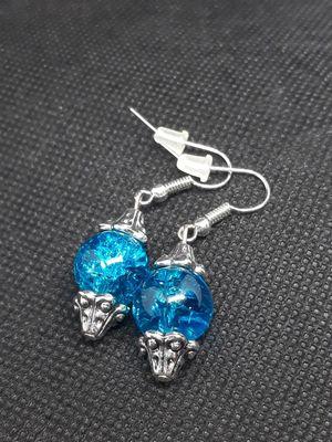 Blue glass earrings for Sale in La Mirada, CA