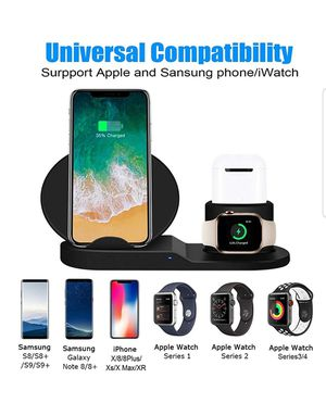 Iphone Wireless Charger, 3 in 1 Wireless Charging Dock for Apple for Sale in Ontario, CA