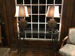 Sofa table and lambs for Sale in Rockville, MD