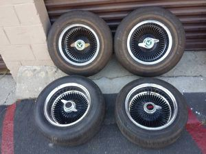 14 inch Dayton style chrome wire wheels. comes with adapters for Sale in Montebello, CA