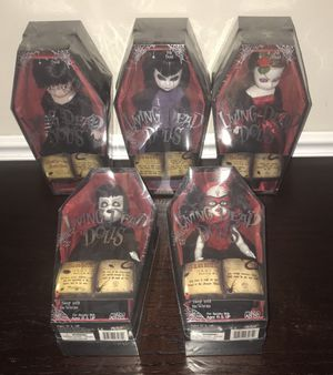 New Living Dead Doll Witch Series just $275 for all 5 for Sale in Port St. Lucie, FL