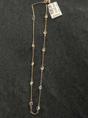 Sterling silver gold plated necklace 18in for Sale in Gardena, CA