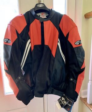 Joe Rocket Red & Black Leather Textile Motorcycle Jacket Mens Sz Large (46) for Sale in Pompano Beach, FL