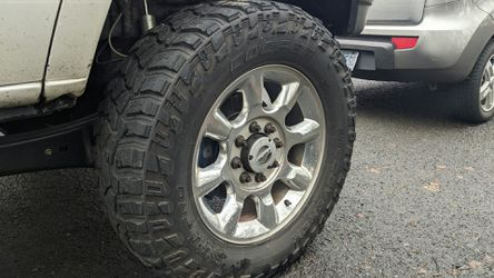 Factory Ford f350 f250 20 inch rims and tires for Sale in Gladstone,  OR