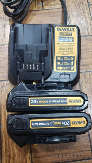 New Dewalt 2 batteries and charger for Sale in Orange, CA