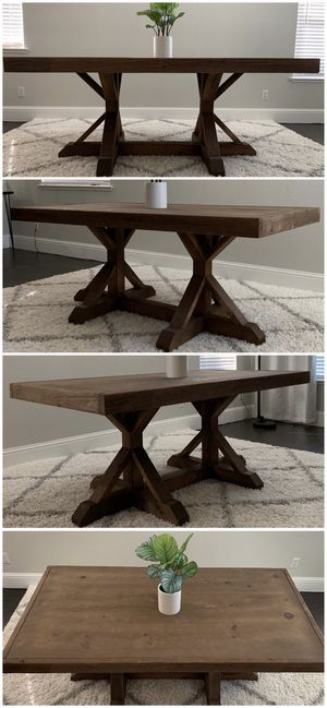 6FT x 3FT Solid Wood Rustic Farmhouse Dining Table for Sale in Reno, NV