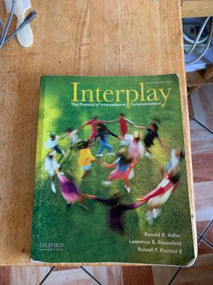 Interplay:The process of interpersonal Communication 11th Edition for Sale in Commerce, CA