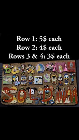 Trading collectors pins Disney universal studios Dodgers authentic trading pins all real pins no fakes updated photo for Sale in Vernon, CA