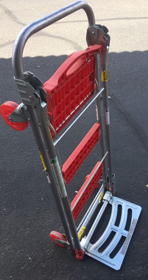 FIRM PRICE - excellent Total Trolley 4in1 , moving trolley, stept ladder, hand truck, flatbed cart for Sale in Sun Lakes, AZ