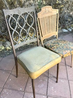 Vintage RETRO 1960s chairs Needs cleaning BOTH FOR FREE just put out front for Sale in Hesperia, CA