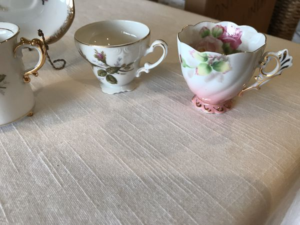 Antique tea cups from grandmas china cabinet