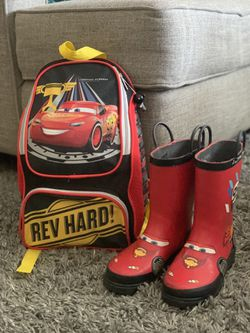 Disney Cars Rain boots And Backpack for Sale in Hollywood,  FL
