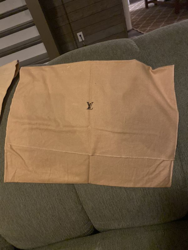 Lot of three vintage Louis Vuitton dust bags