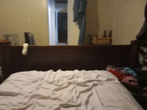 Head board and bed frame with baseboard also for Sale in Wichita, KS
