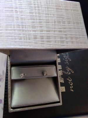 1/2 carat real diamond earrings in 10kt white gold from zales for Sale in Mesquite, TX