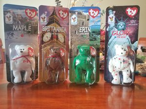 Rare 1993 error tag McDonald beanie babies. The 4 bears and 19 originals. All 1993 error tags. for Sale in Pickerington, OH