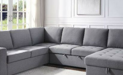 New‼️🎊🎉 4 Pcs Gray Sleeper Sectional Sofa • SAME DAY Delivery 🚚⚡ • FREE Financing 🔥 NOT CREDIT CHECK ‼️ • Apply Online Now!! Easy & Fast for Sale in North Las Vegas,  NV
