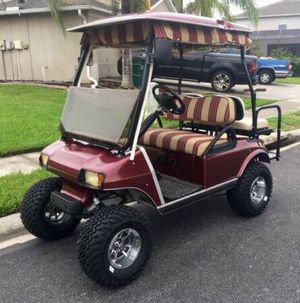 Gorgeous lifted club car golf cart red for Sale in Tampa, FL