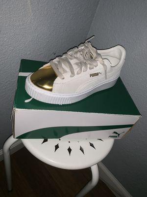 Gold Star White Pumas for Sale in Trenton, NJ