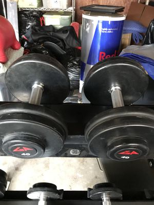 GP Urethane Rubber Coated Dumbbells (2x40s) for $80 Firm!!! for Sale in Burbank, CA