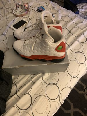 Jordan 13s white and red size 11 for Sale in Washington, DC