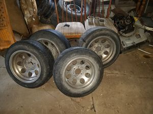 6 lug rims with tires for Sale in Independence, KS