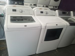 Maytag bravos large capacity washer and steam dryer electric for Sale in Houston, TX