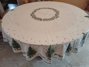 Christmas Tablecloth for 48-inch Round Table for Sale in Fort Lauderdale, FL