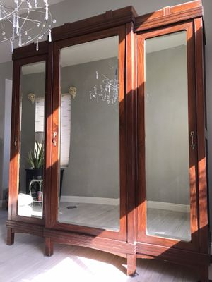 ANTIQUE ARMOIRE - 7 ft tall by 7 feet wide and 24 inches deep for Sale in Avondale, AZ